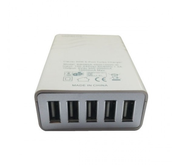 VAPALUX 50W 5-Port Turbo USB Charger