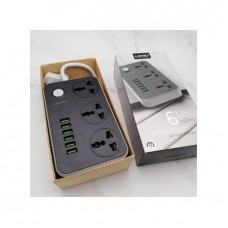 Ldnio 6 USB Port Fast Charger For Smart Phones And 3-port AC Smart ANTI-STATIC Power Socket