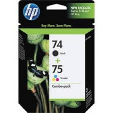 HP Ink Cartridge 74 black and 75 Tri-colour ink cartridge