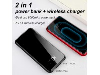 Baseus 8000mAh QI Wireless Charger Power Bank