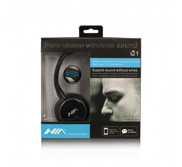 NIA Q1 Bluetooth Headphone Wireless Sport Headsets Foldable Bluetooth Earphone with Microphone
