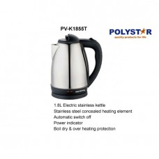 Polystar 1.8 Ltr Stainless Steel Electric Kettle