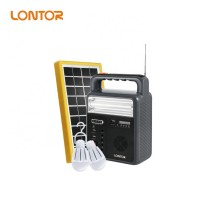 Lontor SLK016 Rechargeable Solar Lighting Kit With Radio, Bluetooth, Music