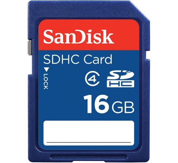 16GB Sandisk SDHC Memory Card