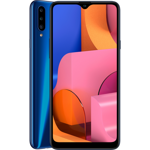 Samsung Galaxy A20s 6.5-Inch (3GB,32GB ROM) Android 9.0 Pie, Triple Camera (13MP/5MP/8MP) + 8MP 4G LTE Fingerprint