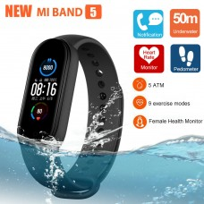 Xiaomi Mi Band 5 AMOLED 50 ATM Waterproof Monitor Smart Watch