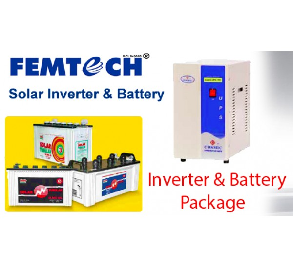 3.5KVA Pure Sine Wave Inverter + 200 AH Mecury Battery