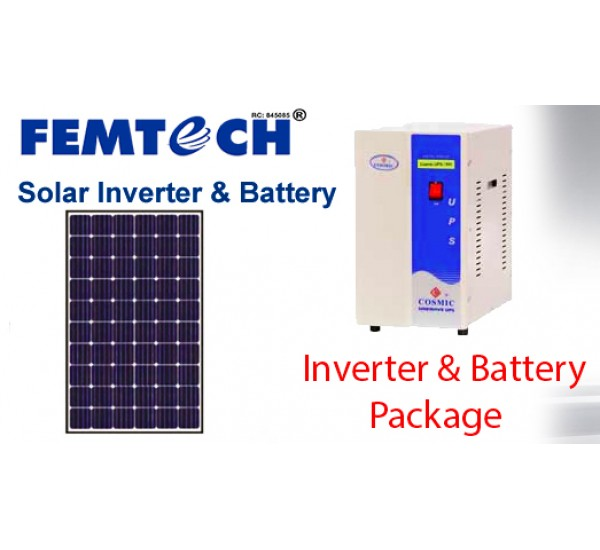 1KVA Solar Panel Incorporation(Partial Electricity & Solar Charging)