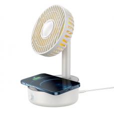 Baseus BS-W513 Desktop Oscillating Fan Portable Fan Cooler Support 10W Wireless Charger Low Noise with Hidden Storage Box Air Cooling Fan