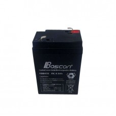 Boscon 6V 4.5Ah Boscon PIN-MOUTH Rechargeable Battery - Black