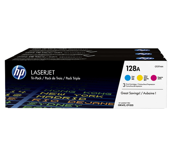 HP 128A color LaserJet Toner Cartridges