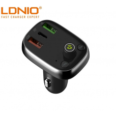 LDNIO C704Q USB Car Charger With Bluetooth, FM Transmitter, MP3 Player, USB-Type C PD QC4 + Fast Charging