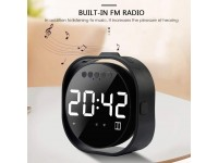 Table Alarm Clock Bluetooth Speaker, Mirror Displa..
