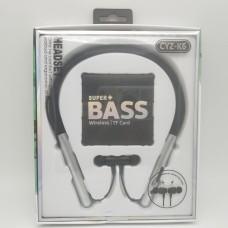 CYZ-K6 Wireless Sports Bluetooth Neck-Band Headset Sweat-proof Headphone Earbuds Stereo