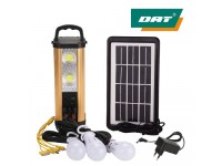 DAT AT-Q7B Solar Charging Lamp System With 3 Led L..