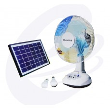 Duravolt DRF-12TS 12 Inches Rechargeable Table Fan With Solar Panel