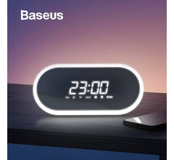 Baseus E09 Bluetooth Speaker Portable Mini Wireless Speaker Stereo Music Surround with Bluetooth TF FM AUX Play for Mobile Phone