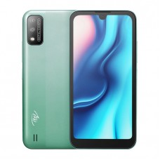 "Itel A37 1GB RAM + 16GB ROM , 5.7"" HD+ Waterdrop Screen, Android 10, 3020mAh Battery, 5MP Camera, Face ID - Green + Free Case"