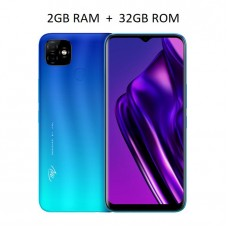 "Itel P36 6.5"" HD+ Screen, 2GB RAM + 32GB ROM, Android 9 Pie, 5000mAh Battery, 8MP + 8MP Camera, Fingerprint + Face ID"