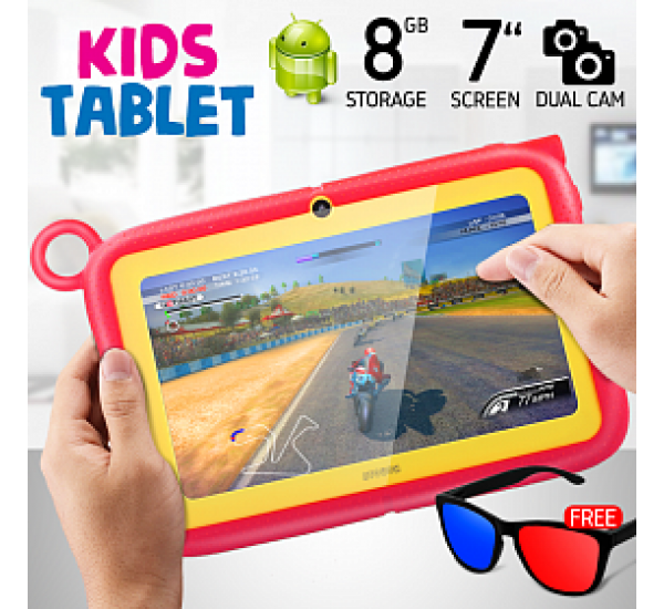 ATOUCH K88, Kids Tablet 7 Inch, Android 6.1, 8GB, 1GB DDR3, Wi-Fi, Dual Core, Dual Camera