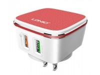 LDNIO A2405Q Dual 2 Port USB Plug 5V 2.4A Quick Ch..
