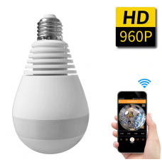 360 Degree Home Security FishEye Camera Panoramic Wifi Light Bulb Mini Wireless 1.3MP 960P IP CCTV Camera