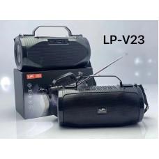 LP V23 SUN Outdoor Solar Portable Wireless Bluetooth Speaker with Flashlight Antenna BT/TF/AUX/FM Stereo Sound