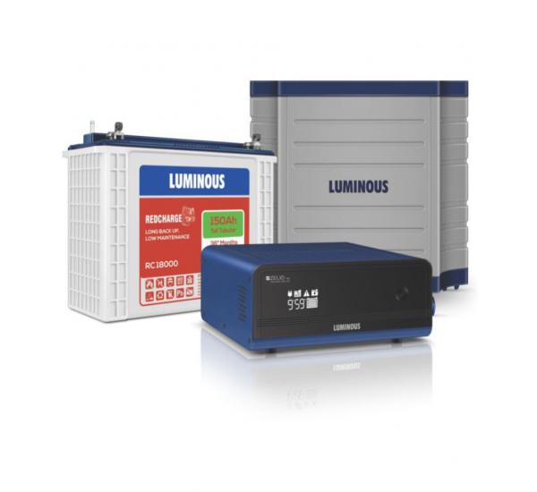 Power Solution On Budget (Luminous Zelio 950va + 150 AH Tubular Battery + Luminous Trolley)