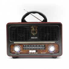 Meier M-111BT Mini Vintage Rechargeable Radio with BT wireless/Remote F.M / A.M / S.W With Remote