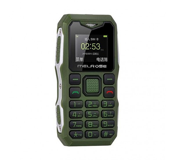 MELROSE Mini Phone S10 1.0 Inch 450mAh Bluetooth MP3 Music Shockproof Features Phone Green