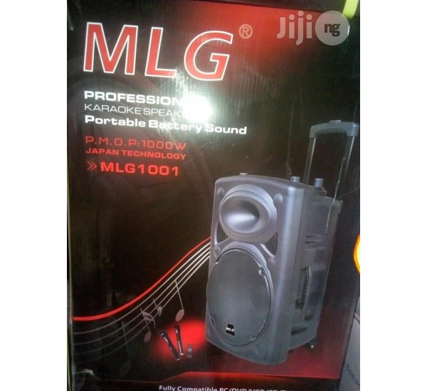 MLG 1001 Rechargeable Trolley P.A System Speaker