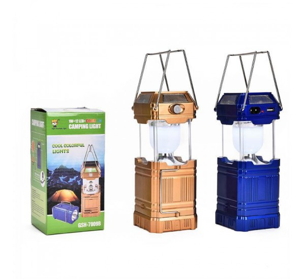 GSH-8009A Folding 6+4+1 LED Lights Solar Rechargeable Lamps Lantern with USB Port for Camping