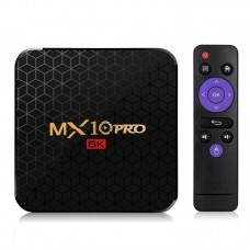 MX10 Pro 6K TV Box Android 9.0 - Black 4GB RAM+32GB ROM