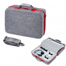 Carrying Case for PS5 Carry Case Travel Bag, Shockproof and Waterproof Storage Bag, Portable Protective Compatible with PS5 Console, Dual Controller and Accessories (Gray)