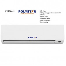 Polystar 1HP Split Air Conditioner With 3mm Pure Copper Pipe And Kit