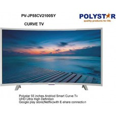 "Polystar 55"" Smart Curve TV (PV-JP55CV2100SY) Full HD HDMI, NETFLIX, YOUTUBE"