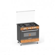 Polystar PVWD-960 EG1 4 Gas Burner + 1 Hot Plate Auto Ignition