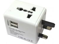 Universal Travel Adaptor With USB Worldwide Adapte..