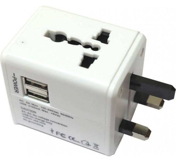 Universal Travel Adaptor With USB Worldwide Adapter
