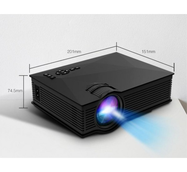 LED Projector 1080P HD UC68 Portable Multi-Media Player Unic Wifi Wireless HDMI