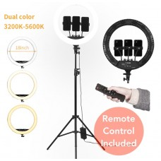 "RL-18 LED Studio Ring Light (18"" inches) Camera / Phone Stand With Remote For Make & Videography"