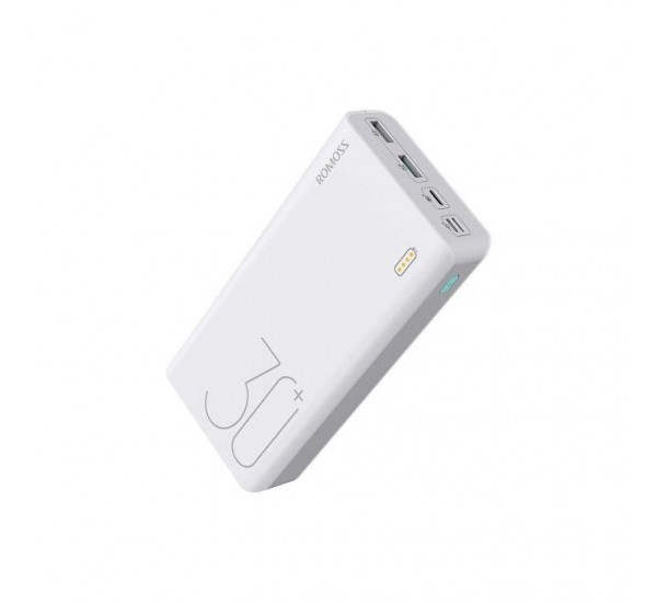 Romoss 30000mAh Sense 8+ Power Bank, PD, 18W QC 3.0 Fast Charge.