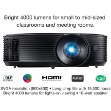 Optoma S336 SVGA Bright Professional Projector | Lights-On Viewing with 4000 Lumens