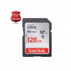 SanDisk Ultra SD Memory Card 128GB 80MB/s Class 10 For Digital Cameras