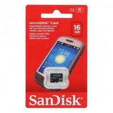 16GB SanDisk microSDHC Memory Card