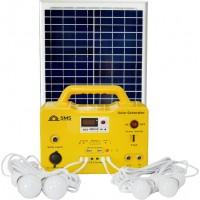 Solar Generator SG 1220 - 20W DC With Fm Radio, USB Charging, 4 LED Bulbs