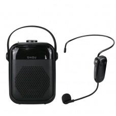SHIDU H6 25W Voice Amplifier Portable Audio Bluetooth Speaker With FM, TF Card, USB Flash Recording, UHF Wireless Microphone
