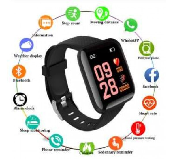 Smart Band Sports Fitness Activity Heart Rate Tracker Blood Pressure Smart Watch with 1.3inch large Display