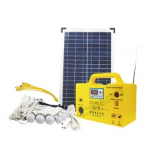 Home Package Solar Generator SG 1230w – 30W DC  With FM Radio/Music, 6 Led Bulbs , Phone Charging