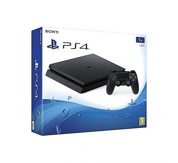 Sony Playstation PS4 1TB HDR, PS PVR Ready + Playstation Plus, Jet Black